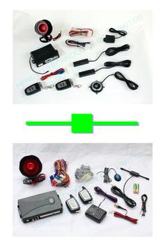 1 pcs push button engine start /PKE car alarm FS-58 keyless go + 1 pcs two way car alarm FM 8088 no engine start range1000 meter