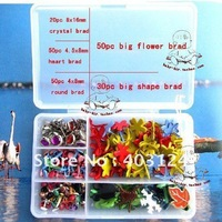 200pcs/set  shape metal brad, scrapbook brad/album brads/DIY scrapbook brad/album brads--free shipping