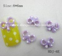 Free Shipping 200pcs/bag Light purple Color Resin Scissor Bowknot Nail Art Decoration Cellphone Decoration Bow Decoration