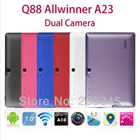 "7"" Q88pro Dual Core tablet pc Allwinner A23 Android 4.2 OS 1.5Ghz 512M RAM 4G ROM WIFI USB 3G webcam Capacitive Screen Tablet PC"