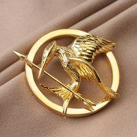 The hunger games catching fire logo 925 sterling silver bird pendants for women & men free shipping