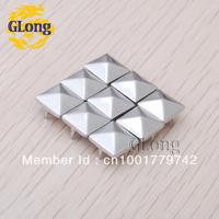 10mm Pyramid Studs Nickel Silver Punk Rock DIY Rivets Nailheads Spike/wholesale/Free Shipping 500pcs GZ005-10S CP