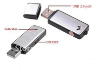 New Hotsale 2in1 4GB Mini Digital Voice Recorder II + USB Flash Memory Stick Drive freeshipping China Post Sample