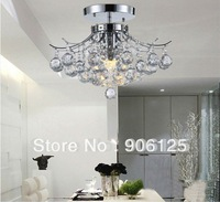 "D12 "" Empire Mini Pendant Crystal Chandelier Chrome Finish - 3Lts w. Hanging kit Guaranteed100%+Free shipping!"