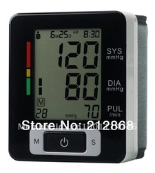 Fully Automatic Digital Wrist Blood Pressure and Pulse Monitor,Sphygmomanometer, Portable Blood Pressure Monitor(China (Mainland))