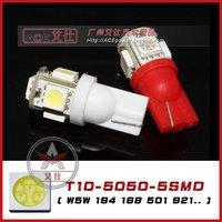 Car lamp T10 5050 5SMD led Door lamp/ instrument bulb/ Signal lights/ reading lighting/ dome light/ w5w 194 168 501 921