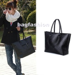 promotion Fashion Korean Knit Shoulder designer bag handbag leather for Ladies girls Bags handbags women drop shipping 4179(China (Mainland))