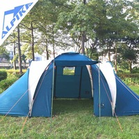 Hot sale classic style of  large 4 Person 2 VS 2 Family Tent as camping gear for camping