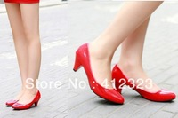 ladys casual flat shoes mid heels ankle Sandal women PU boots close toe shoes