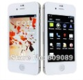 In stock White Cheap MTK6575 Android 4.0 phone Star W007 3.5 Inch dual sim WCDMA+GSM WIFI GPS 1GHz Dual cameras Free gift