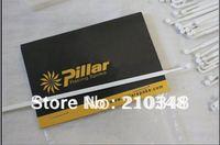 Free shipping Pillar Aero 1432 Stainless Steel White/black Bicycle Spokes for Carbon Fiber Wheel set 24 pics 6.5g each