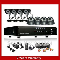 DHL Fedex Free Shipping 8ch IR Outdoor  Weatherproof Surveillance CCTV Camera Kit Home Security DVR Recorder System