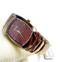 New Fashion Mens Classic Luxury Elegant Wrist Watch Quartz Steel Strap
