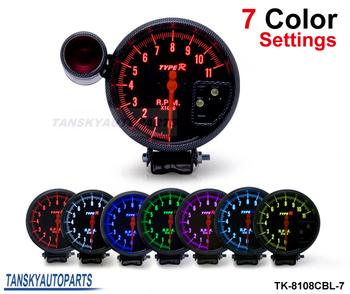 """Tansky - 5"""" Rpm  Tachometer 7 COLOR LED TK-8108CBL-7"""