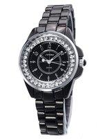 New Fashion Womens Dial Classic Elegant Steel Analog Quartz Wrist Watch