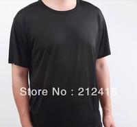 Free shipping 100% silk men t shirts,men clothes,short shirts,o-neck,man wear,shirts for men,shirts for boys,L XI XXL#ls1001
