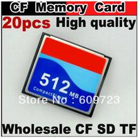 20pcs/lot High quality Industrial Use Compact Flash CF Card 128M/256MB/512M/1GB/2GB Memory card