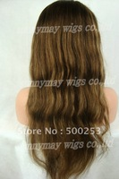 Highlight Color Natural Straight Brazilian Virgin Human Hair Silk Top Lace Wigs