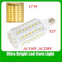 Free Shipping E27 17W 86 LEDs 5050 Corn Light AC 110 or AC220V Led Bulb YM0032