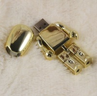 Golden robot design USB Flash Drive USB Pen Drive 1GB 2GB 4GB 8GB 16GB 32GB 64GB