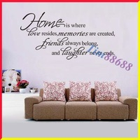 Home Is Where Love Resides Quote Vinyl Wall Decal Sticker decor art Free Shipping