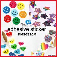 WHOLESALE Cartoon Sticker Kids Gift Prize Self-adhesive Pattern Shop Pack Seal Children Encourage say hi 1000pc 10roll/lot 0520M