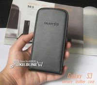 100pcs/Lot Genuine Flip Leather Case Cover For Samsung Galaxy S3 S III i9300