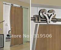 Modern 304 stainless steel sliding barn door hardware for wood door&interior door hardware free shipping