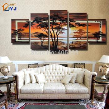 Handmade  Modern Oil Wall Art  ,Home Decor ,Modern Landscape Oil Painting JYJLV243