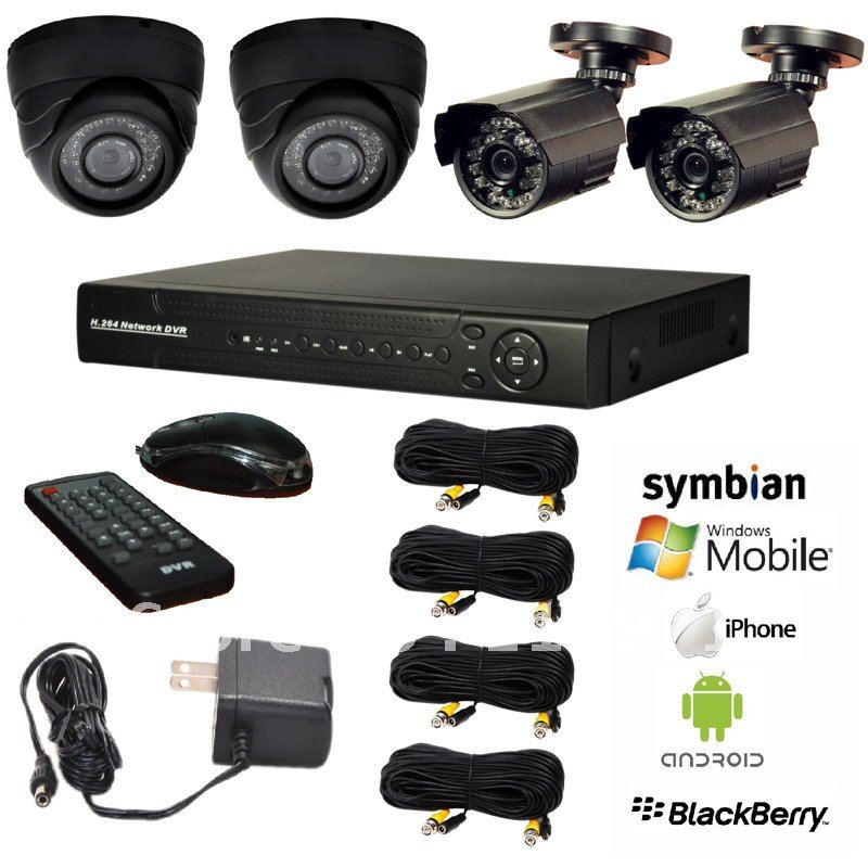 2013 Hot Selling Surveillance CCTV System 4CH DVR Kit with Day&amp;Night Camera and 4CH H.264 All D1 DVR Kit for Business&amp;Home(China (Mainland))