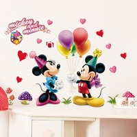 Hot sale home decor cartoon kids cute mouse wall stickers baby wall decals