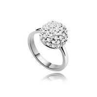 Austrian Crystal Rings 18k White Gold Plated   Make With Swarovski Elements  Free shipping (4- colors)