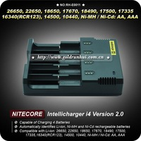 1PC Nitecore Battery Charger for 18650 16340 26650 10440 AA AAA 14500 Battery Charger Nitecore I4 Charger