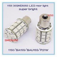 A+++++ 2013 new products led rear tail light 1156 ba15s bau15s p21w 36smd5050 super bright auto lamp DRL auto part 2pcs/lot