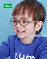 Kids Eyeglasses with Silicone Headband Strap Cord, Italian Design TR90 Children Glasses,  Kids Safety Plastic Eyewear