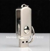 Feb offer 8GB concise design housing gift Flash Memory Metal Swivel Pen Stick Drive steel flash disk