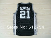 Free Shipping,#21 Tim Duncan Rev 30 New Material Basketball jersey,Embroidery logos,Size 44-56
