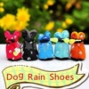 Pet Dog Shoes Booties Air Holes Black Suede Synthetic Boot Wholesale Free Shipping 8 colors 7 sizes