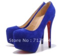 Freeshipping 2012 new arrival fashion pumps, lady's sexy high quality high heels,women platforms party shoes blue 16cm,wholesale
