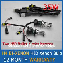 Expédition pas cher 35 W 12 V H4 bi - xenon HID xenon ampoule automobile phare remplacement ampoules H4-3 BiXenon salut / Lo faisceau lampe(China (Mainland))
