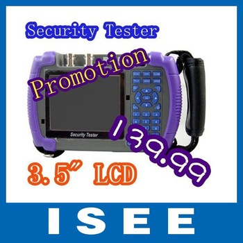 Christmas Promotion !CCTV Security Camera Tester Optical Fiber Tester, controlling PTZ, testing LAN cable,capturing data