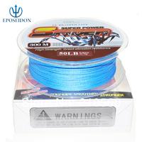 No.1 Quality&Service 4 Strand Blue Color 300M Japan Multifilament Super Strong 100% PE Braid Fishing Line 80LB
