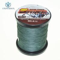 No.1 Quality&Service 4 Strand Grey Color 1000M Japan Multifilament Super Strong 100% PE Braid Fishing Line 31LB