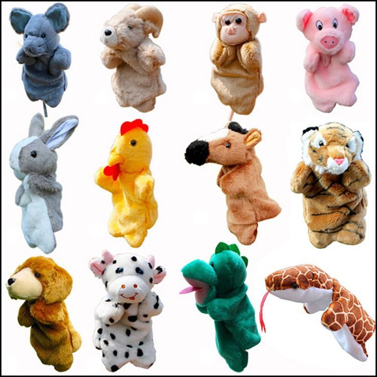 Twelve Chinese Zodiac mouse,cattle,tiger,rabbit,dragon,snake,horse,sheep,monkey,cock,dog, pig Plush toy hand puppet(China (Mainland))