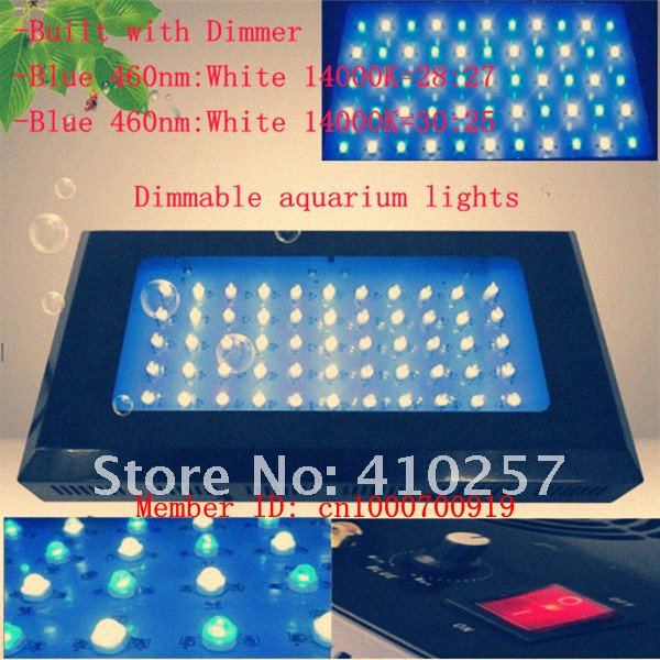 Dimmable 55*3W Led aquarium Light 120W for aquarium fish tank and coral reefs,Blue:White=28:27,dropshipping,EMS Free Shipping(China (Mainland))