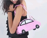 HOT SELLING NOVELTY CAR SHAPE WOMEN HANDBAG PU LEATHER+WOMEN SHOULDER BAG+LADIES NOVELTY BAG+FREE SHIPPPING(1PC)  NB001