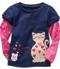 Free shipping children&#39;s long sleeve T-shirt for girl wholesale and retail