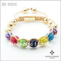 Olympic Shamballa Bracelet/ Colorful Crystal Pave Bracelets