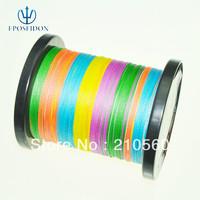No.1 Quality&service Super Power 1000M Multicolour PE Braid Fishing Line 12 16 20 30 40 45 50 65 80LB