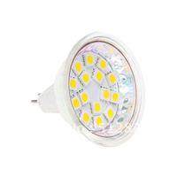 15pcs LED MR16 Bulb Light AC/DC10-30V 12V/24V Wide Volt SMD 5050 White Warm White 20pcs/lot